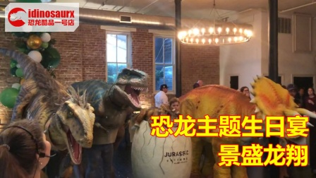 恐龙主题生日宴的道具 - 节庆恐龙演出服