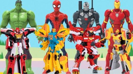 复仇者联盟带来心奇爆龙战车变形合体玩具