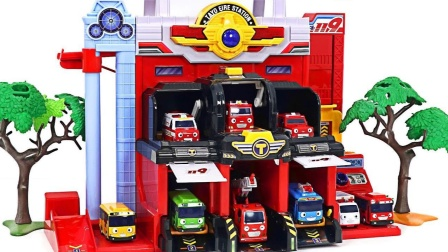 着火了! 消防救援队出动! 小巴士消防流行玩具好玩又实用