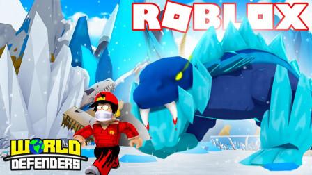 ROBLOX恐龙塔防:万圣节建造基地打败入侵怪兽!咯咯多解说