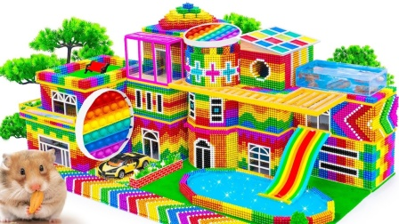 建造一座屋顶带鱼池的大房子