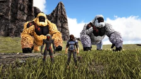 方舟生存进化:VS系列 和小云云骑大金刚比赛扔石头