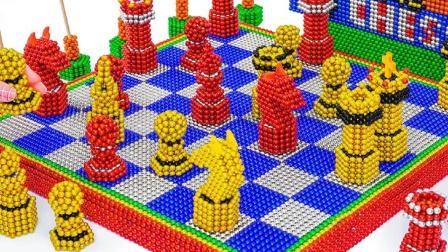 巴克球制作国际象棋并比赛