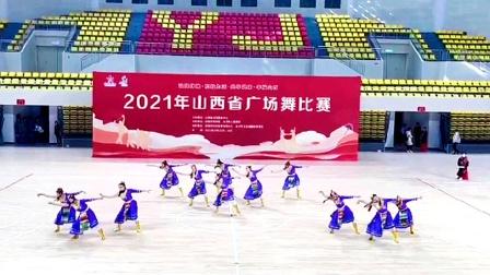 2021年山西省广场舞大赛,规定套路第一名《我的九寨》。