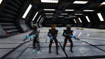 方舟生存进化:VS系列 三人你拿科技步枪大乱斗 谁能拿第一