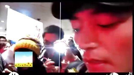 霍建华参加四川电视节粉丝接机片段