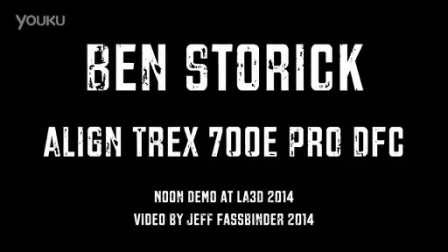 Ben Storick Trex 700E DFC DEMO Flight at LA3D 2014