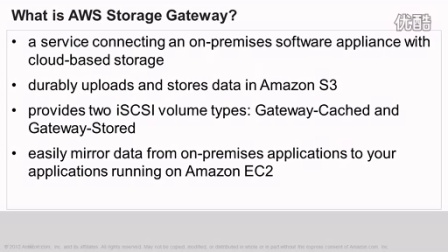 Gateway-Cached volumes on AWS Storage Gateway