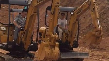 精彩 玉工YG15-8迷你小型挖掘机试车表演