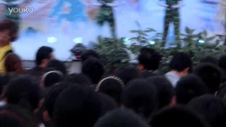 荣县中学 高2015级23班 军舞表演 《军魂》艺术节