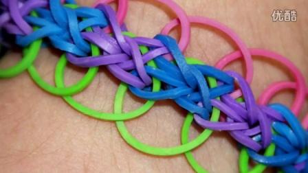 12 Rainbow Loom® 钻石与戒指手链彩虹织机手链视频教程