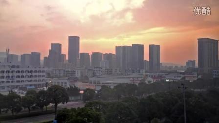 延时摄影-城市日出和风云变换-