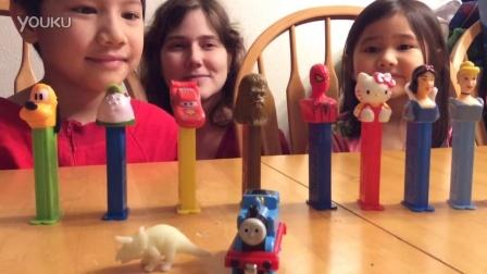 【中美混血家庭】美国食玩托马斯和他的朋友们皮礼士糖PEZ水果糖