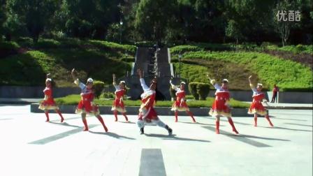 云南立铭广场舞《欢迎你到比如来》原创教学附分解