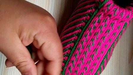 第三集手工编织小辫子棉鞋教学教程