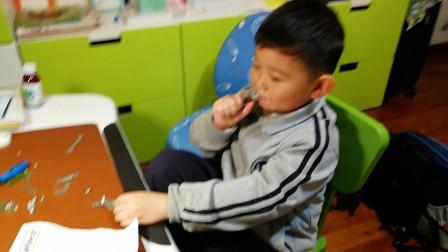 【6岁】11-16哈哈玩德国进口金属拼装玩具爱泰小木马VID_204928