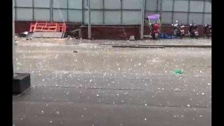 商南县城关镇突降特大冰雹