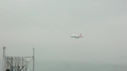 甘泉香港航空 波音747-400 降落 香港国际机场