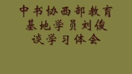刘俊谈书法学习