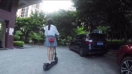 水星动力Wide Wheel猛兽版电动滑板车骑行体验