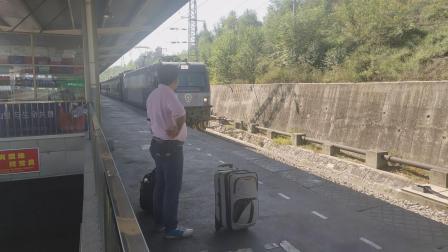 客车K1174达州-惠州进安康站四站台四道本务HXD3C0079