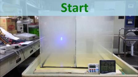 AirRun 可携式空气清净机~烟雾试验