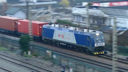 【中铁特货】电力43175次挂空车冷链通过绍兴站,本务和谐D1B-0522