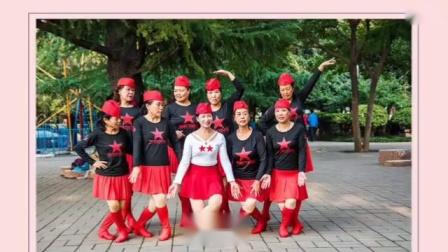 十月玫瑰(🌹中间白色水兵舞服)2019年10月23号下午西苑公园和舞蹈队姐妹欢聚一堂欢歌共舞★藏族舞《毛主席的光辉》照片视频
