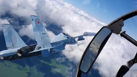 Su-30SM战机空对空拍摄座舱视角精彩集锦