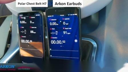 雅刚电子Arkon心率耳机与Polar H7 心率带的心率准确度对比 #Realtek RTL8763B + WBD101 SBS3000#