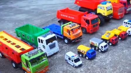 儿童工程车 卡车运载巴士挖掘机翻斗车吊车翻车了 .avi