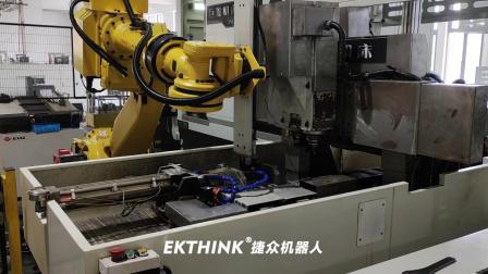 工业机器人桁架机械手数控机床连线【EKTHINK】