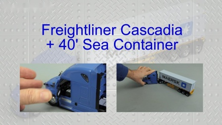 Freightliner Cascadia + Container by Cranes Etc TV