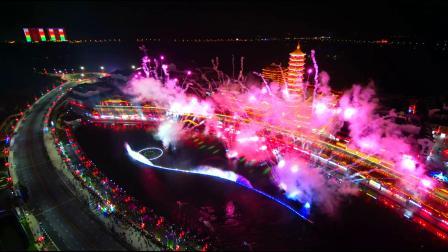 太湖龙之梦大型水秀烟火表演