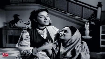 【黑白怀旧】宝莱坞老一辈女星 Nargis 50年代经典电影《书信》经典插曲 Raaja Ki Aaye Gi Baraat-Aah