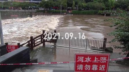 旭水河第二次洪峰