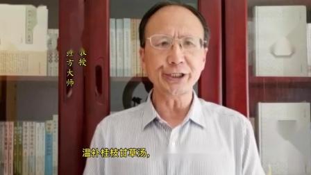全国著名经方大师王付教授全新解读学好用活经方桂枝甘草汤