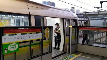 【广州地铁1号线】广州地铁1号线A2型电客车(01x073-074)坑口站下行出站