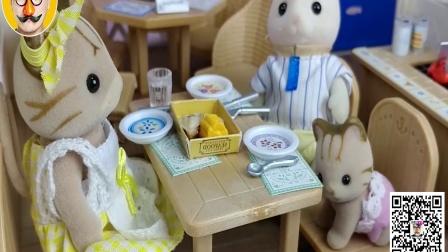 小猪佩奇森林家族还有小企鹅波乐乐的玩具视频 焦虑先生