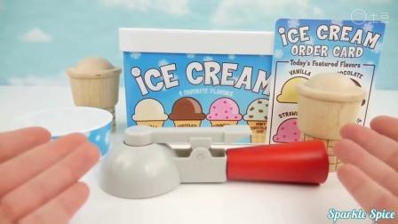 冰淇淋玩具冰棒学习颜色对孩子婴儿学步儿童学龄前儿童