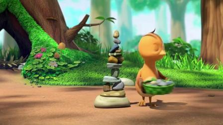 萌鸡小队:大危机!萌鸡们在快速滚动的西瓜上,这下可怎么办才好斩月