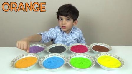 碗里的食材教你学习颜色,快乐制作冰激凌