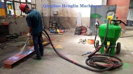 青岛恒林集团:DB500无尘喷砂机工作视频 (14)