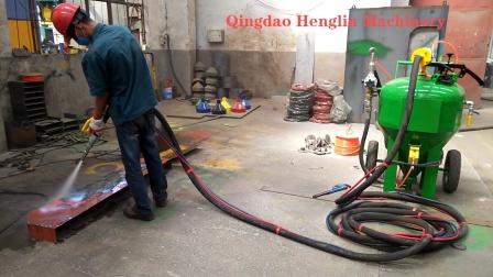青岛恒林集团:DB500无尘喷砂机工作视频 (12)