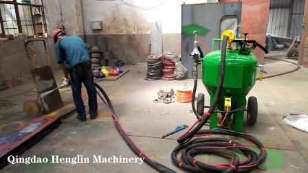 青岛恒林集团:DB500无尘喷砂机工作视频 (8)