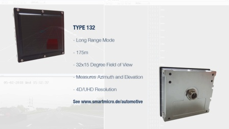 smartmicro Automotive Radar 4D/UHD 77GHz Long Range Mode