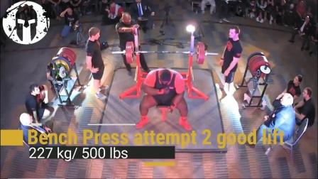 大力神威廉姆斯蹲485,推235,拉372.5公斤