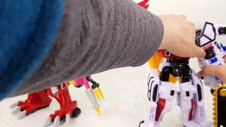 组建形状各异的大恐龙玩具,神奇的变形金刚玩具