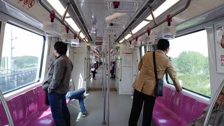 南京地铁s3号线(007008)林山至桥林新城站。