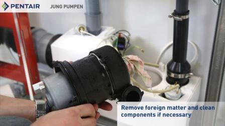 Jung Pumpen WCFIX PLUS 泵 - 异物的影响